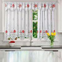 cozinha com cortina de decoração